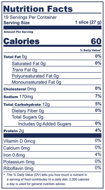Italian Loaf Nutrition Facts