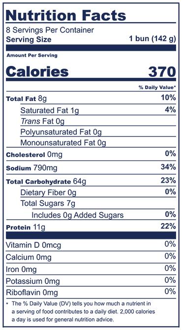 Pretzel Bun Nutrition Facts