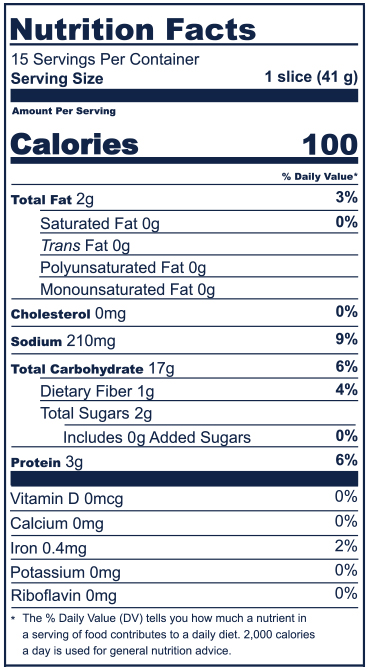 Whole Wheat Nutrition Facts
